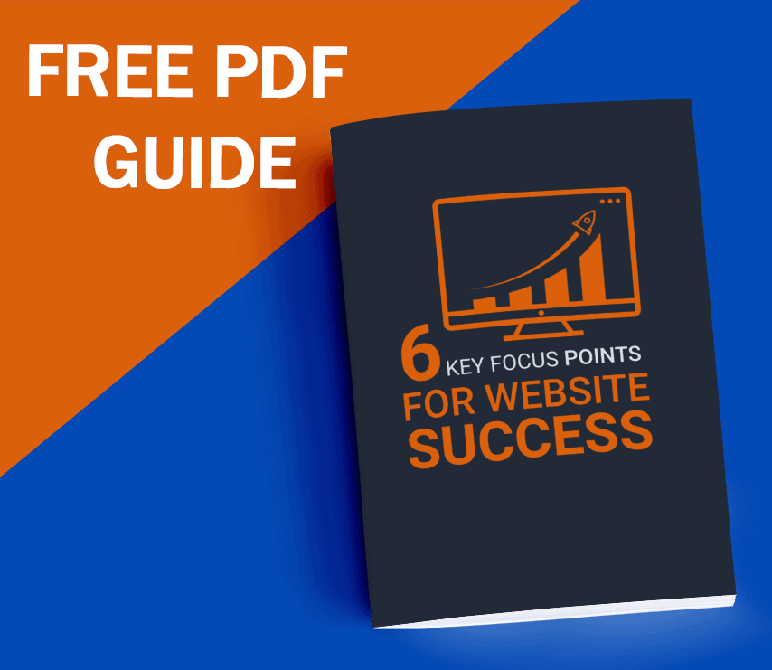 ebook cover for the 6 key focus points for website success