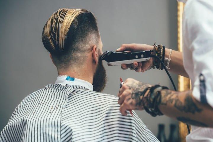 Beard Haircut At Barber Shop